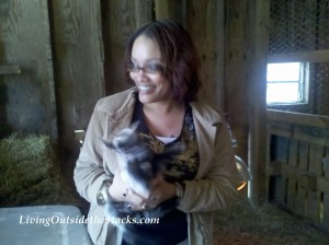 Me Holding the Baby Goat