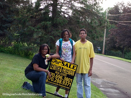 The Kids and the For Sale Sign