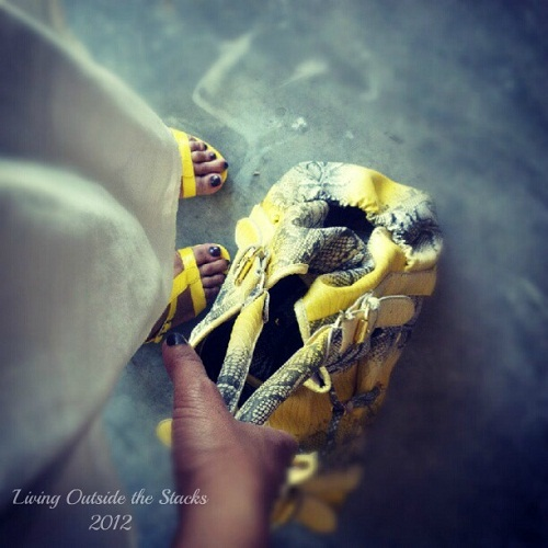 Yellow Wedges {Shoe Style Saturday}