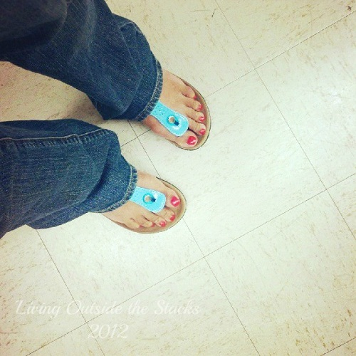 Turquoise Thong Sandals