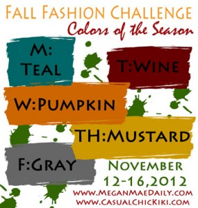 Colors of the Season: Fall Fashion Challenge