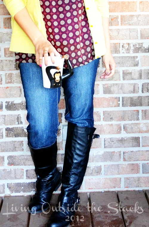 Citron, Purple Polka Dots, Jeans and Boots {Living Outside the Stacks}