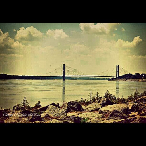 Bill Emerson Bridge Spanning the Mississippi River {Living Outside the Stacks}
