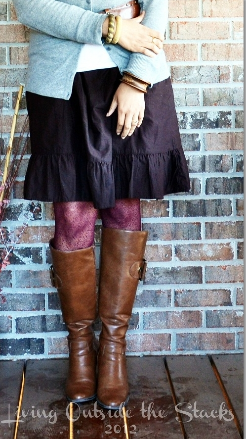Burgundy Tights {Living Outside the Stacks}