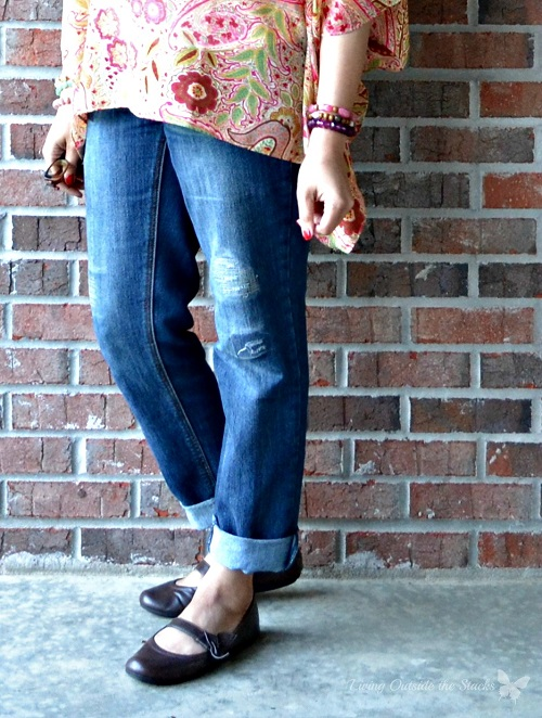 Paisley Top, Jeans, and Mary Janes {Living Outside the Stacks}