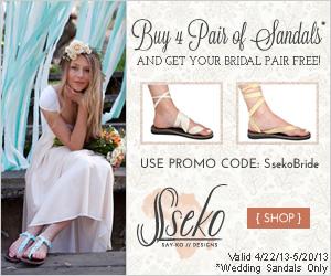 Sseko Bridal Sandals {Affiliate Link}
