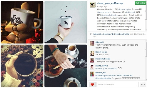Show Your Coffee Cup {Instagram}