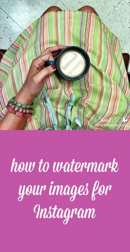 How to Watermark Your Images for Instagram {Living Outside the Stacks}