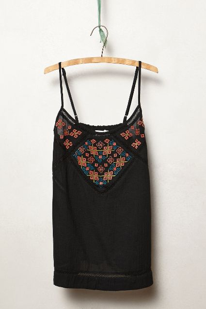 Cosmism Embroidred Tank Anthropologie - Transitional Style Wish List {Living Outside the Stacks}