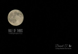 Week 11 Rule of Thirds Moon {Living Outside the Stacks} #OurProject52