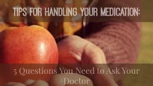 Tips for Handling Your Medication {Living Outside the Stacks}