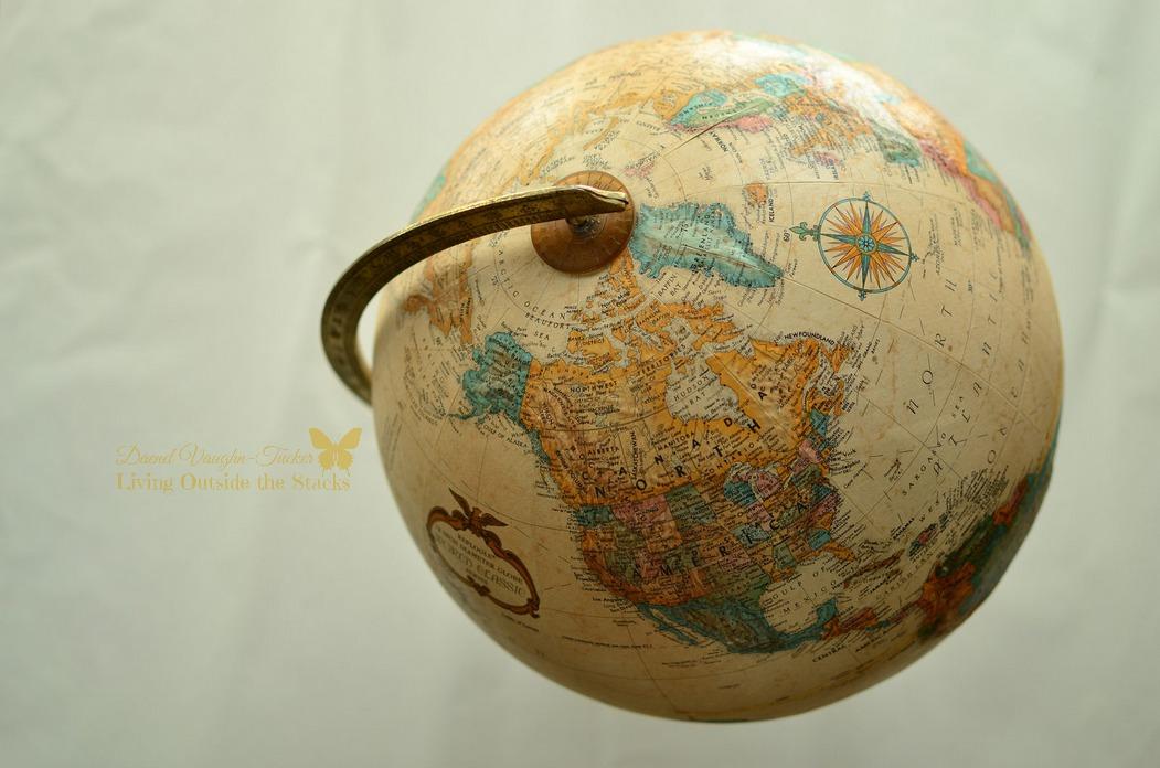 Vintage Globe {Living Outside the Stacks}