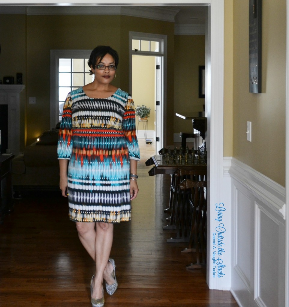 Multi~Colored Dress and Sparkly Heels {living outside the stacks}