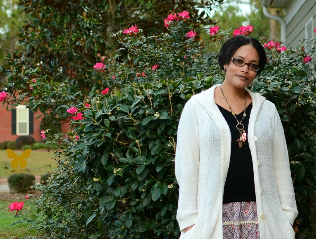 Dress as a Skirt with Cardigan {living outside the stacks}