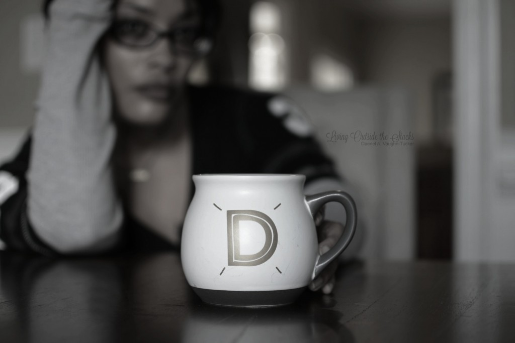 Monochrome Monday Coffee Cup {living outside the stacks}