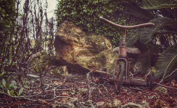 Abandoned Tricycle {living outside the stacks}