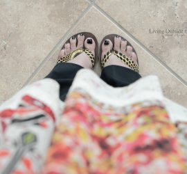 Floral Top Black Pants and Sseko Sandals {living outside the stacks}