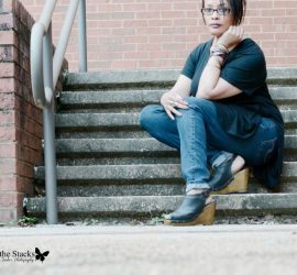 Ageless Style Linkup Black Sweater Jeggings and Black Booties {living outside the stacks}