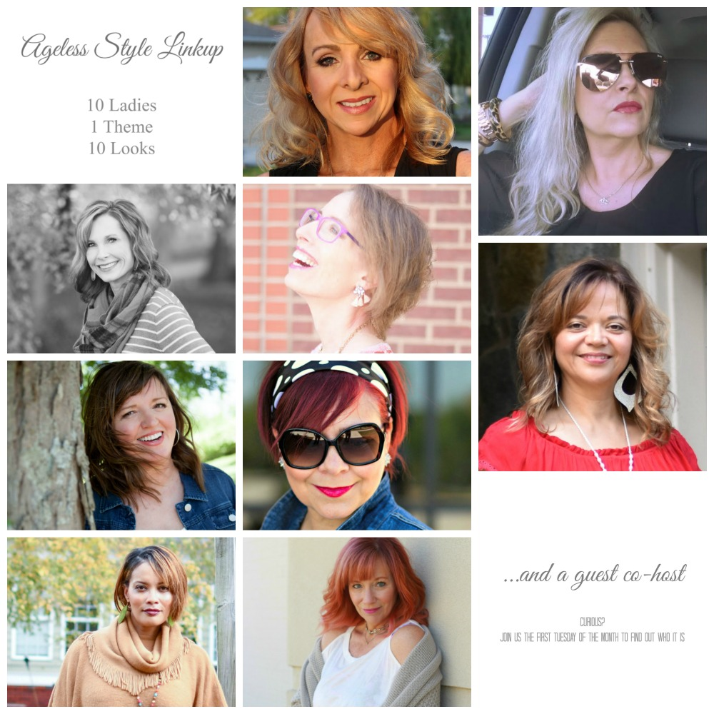 Ageless Style Linkup Badge with Guest Co-Host