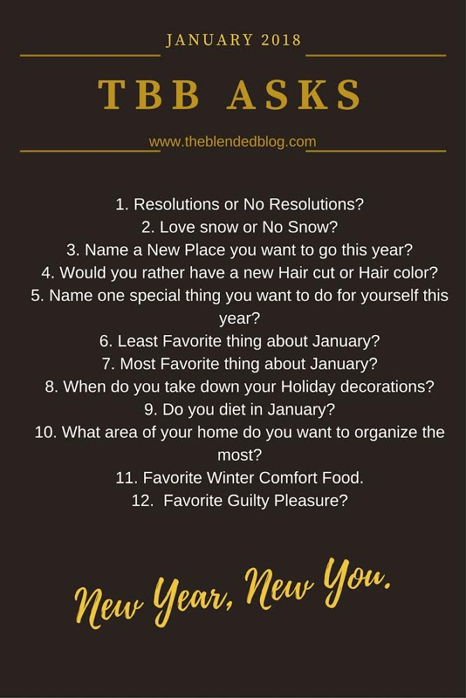 TBB Asks 8 January {The Blended Blog}