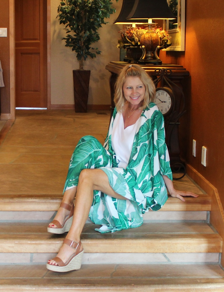 Cheryl in Green Kimono {Northwest Mountain Living and Style}