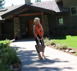 Cheryl with Bag Kimono {Northwest Mountain Living and Style}