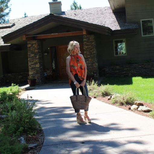 Cheryl with Bag Kimono {Northwest Mountain Living and Style}