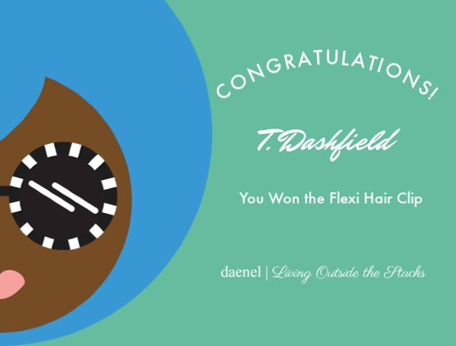 Flexi Hair Clip Winner Name {living outside the stacks}