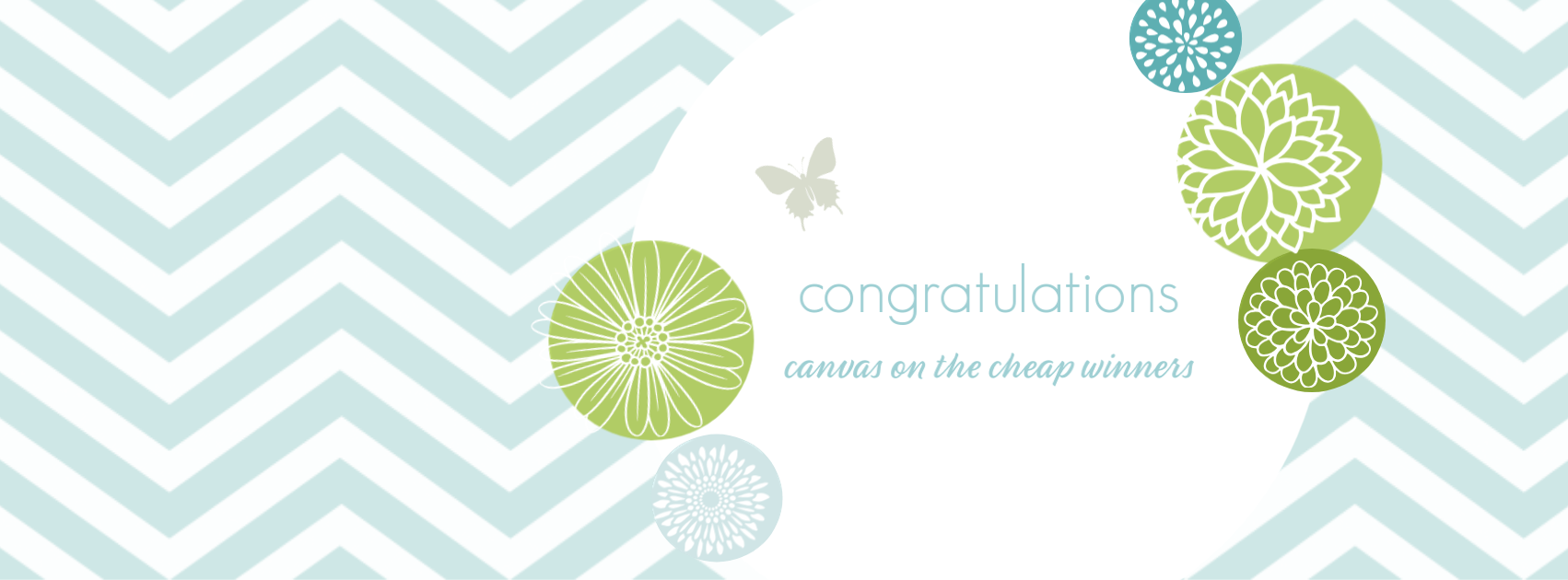 Congratulations Canvas on the Cheap Winners {living outside the stacks}