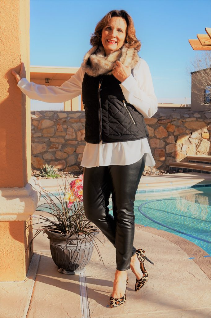 Leslie {once unpon a time happily ever after} Ageless Style Bloggers Faux Fur