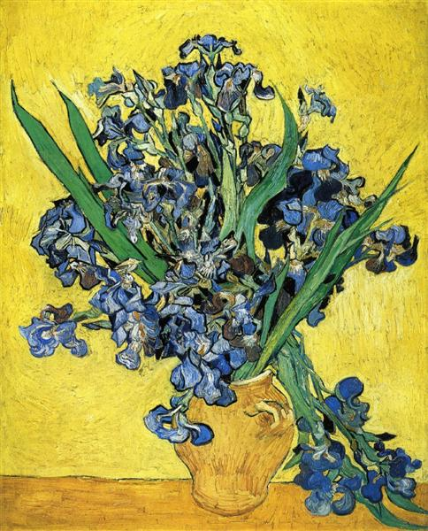 Still Life with Irises by Vincent van Gogh