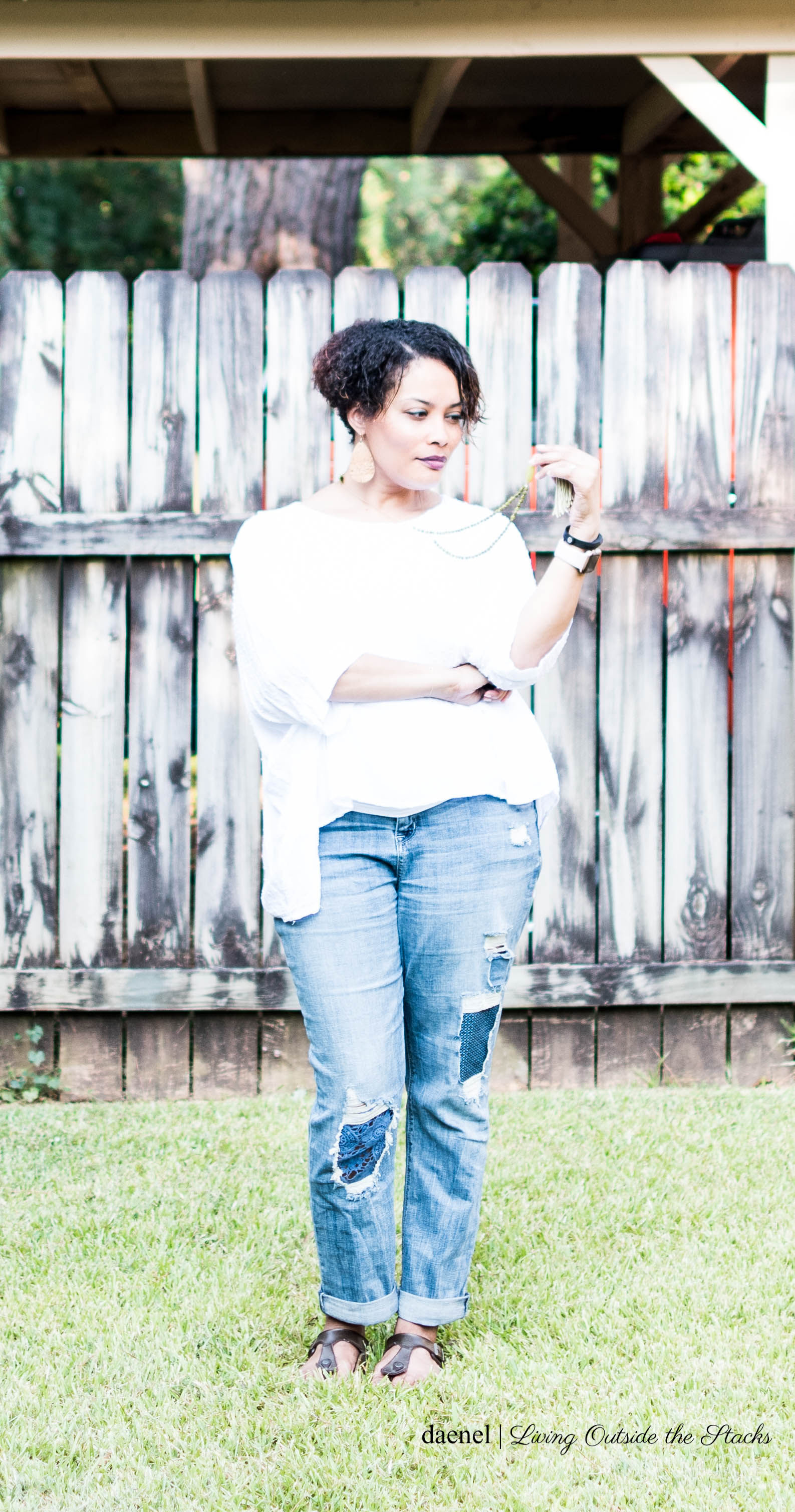 Laurie Felt Underpatch Weekender Jeans {living outside the stacks}
