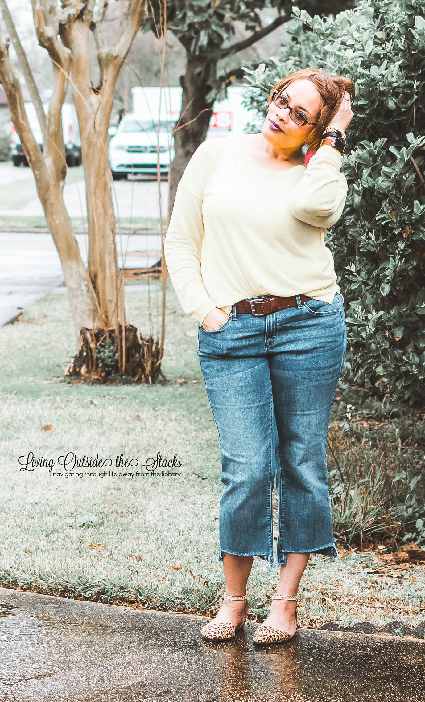 Neon Sweater Jeans {living outside the stacks}