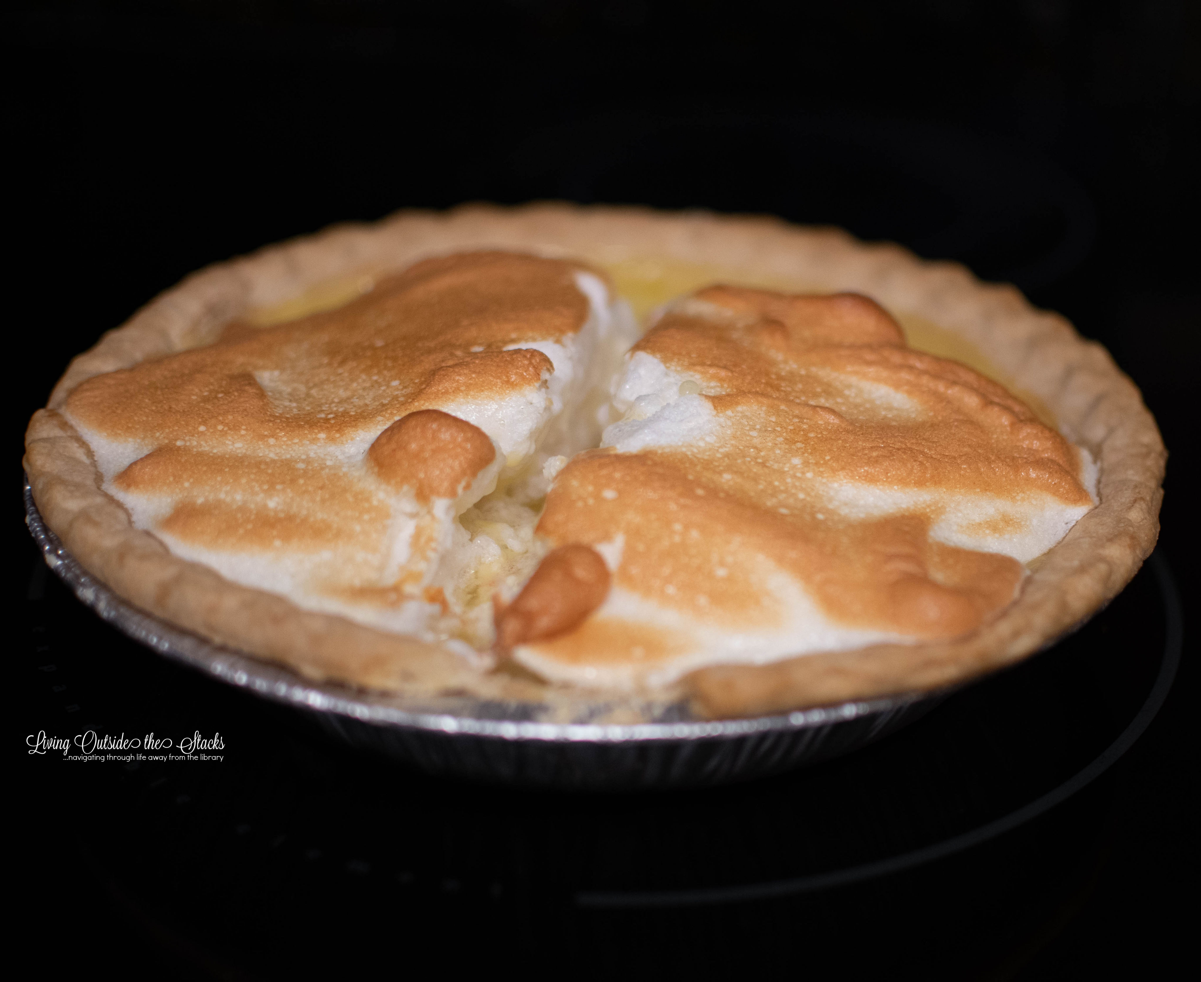 Lemon Meringue Pie {living outside the stacks} #CoffeeAndPieChat