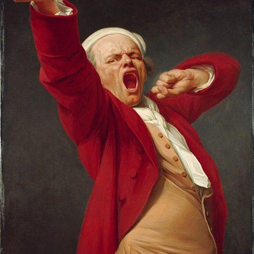 """Self portrait, yawning"" by Joseph Ducreux"