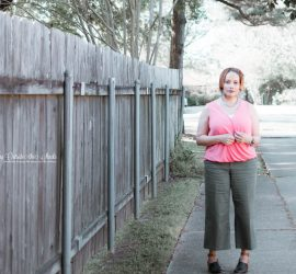 Coral Top Cropped Olive Pants Black and Brown Clogs {living outside the stacks}