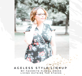 Ageless Style Floral Dress Announcement {living outside the stacks}