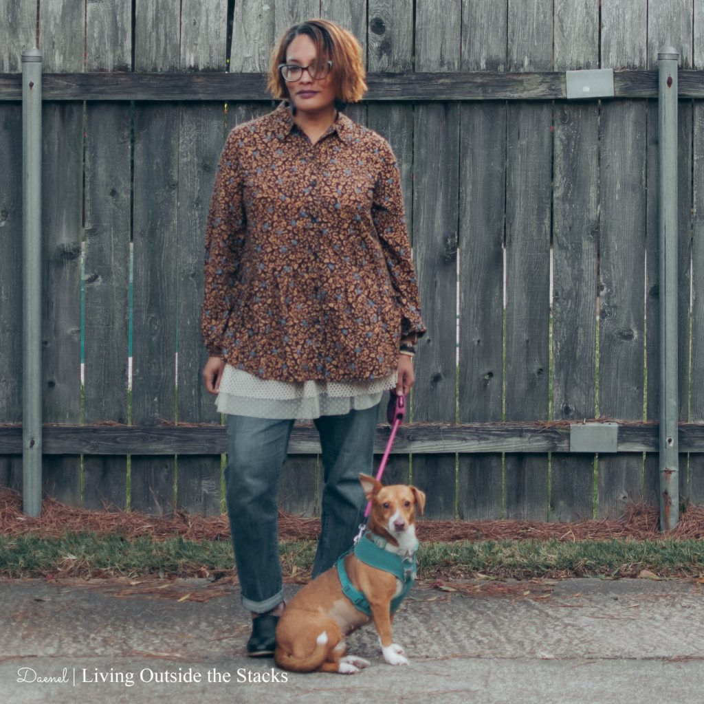 Logo by Lori Goldstein Top Tulle Cami and Boyfriend Jeans {living outside the stacks}
