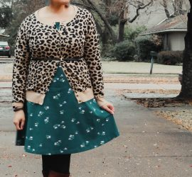 Leopard Print Cardi Floral Dress {living outside the stacks}