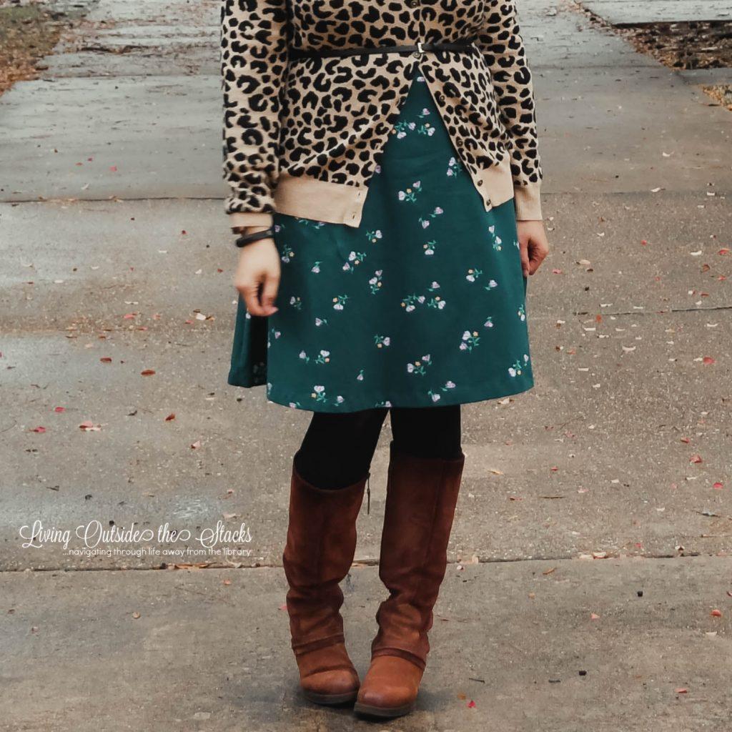 Leopard Print Cardi Floral Dress {living outside the stacks}
