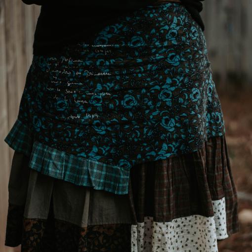 Black Turtleneck Ian Mosh Skirt and Black Boots {living outside the stacks} Daenel T