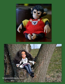 Monkey and Jasmin Collage