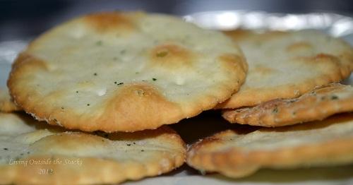 Garlic and Chive Pita Chips