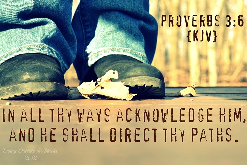He Will Direct Your Path {Word Filled Wednesday}