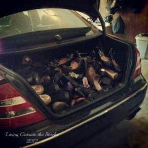 Trunk Full of Shoes