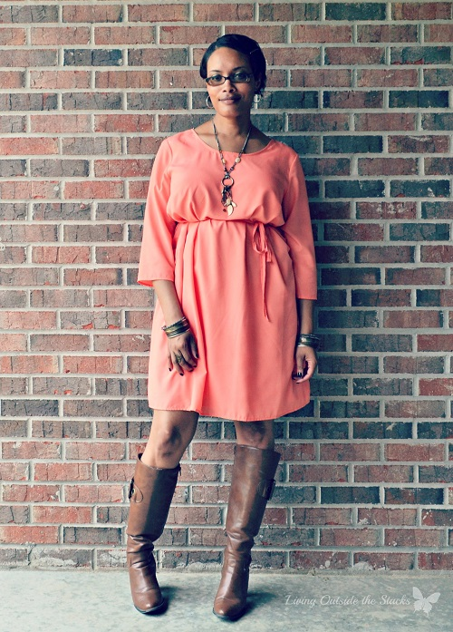 Apricot Dress {Living Outside the Stacks}