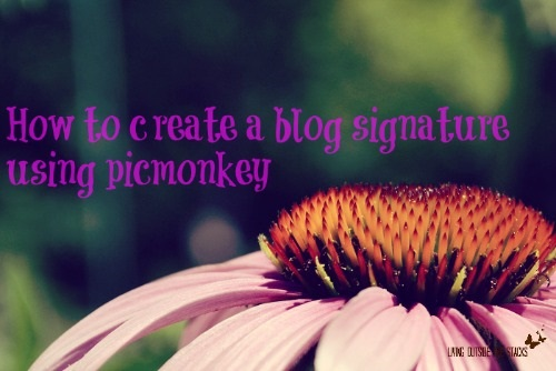 How to create a blog signature using picmonkey {Living Outside the Stacks}How to create a blog signature using picmonkey {Living Outside the Stacks}