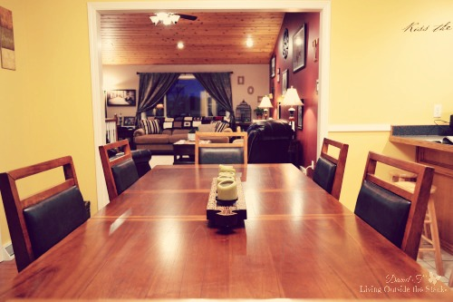Home Tour: Dining Room and Kitchen {Living Outside the Stacks}