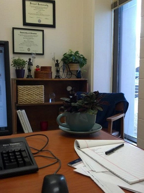 My Office: Sneak Peek {Living Outside the Stacks}