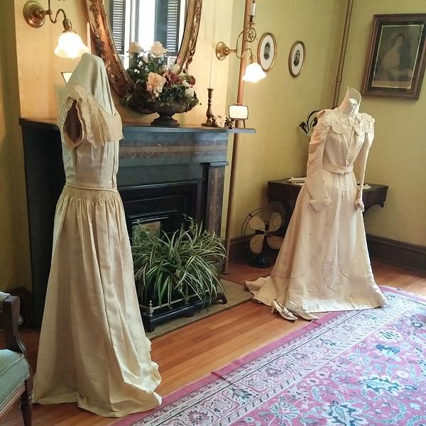 Glenn House Wedding Dress Exhibit {Living Outside the Stacks}
